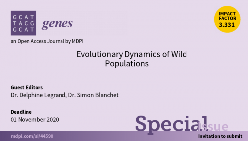Special Issue in Genes on Evolutionary Dynamics of Wild Populations